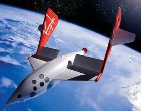 Una nave de Virgin Galactic de innovador diseño